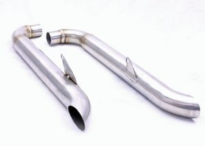 Bonneville Exhausts T100/T120 'TT Slash Cuts' Satin Stainless.